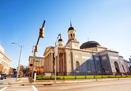 Side view of the Baltimore Basilica, Maryland, USA Stock Photo