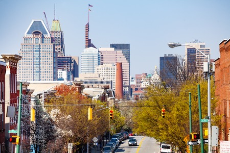 Beautiful cityscape of Baltimore downtown, MD, USA Stock Photo