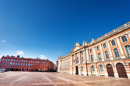 Toulouse Place du Capitole and its buildings Stock Photo
