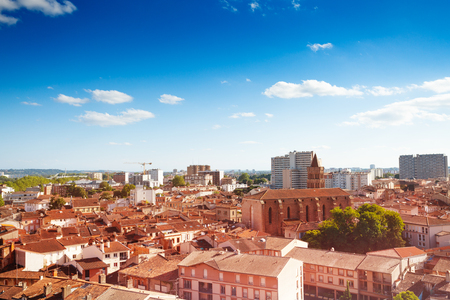 Cityscape of Toulouse and Saint Nicolas church