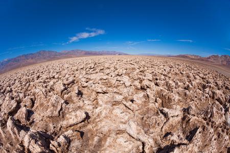 Desert made of salt - Death Valley view