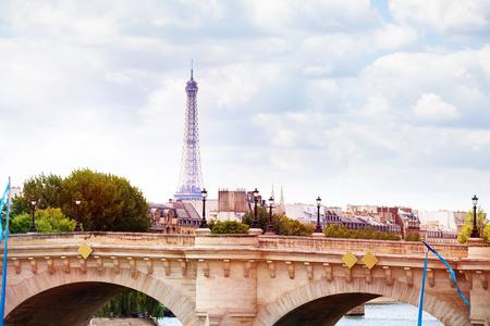 View on the bridge Pont des Invalides Paris France Фото со стока