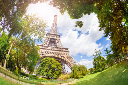 View of the Eifel tower from bellow