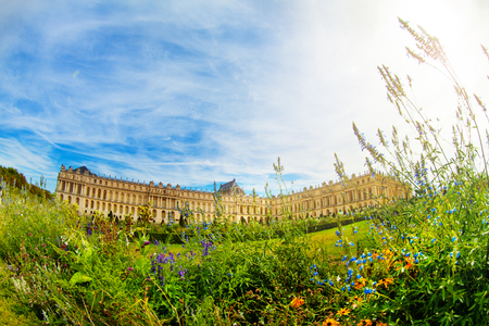 Versailles Palace with flowering park in France