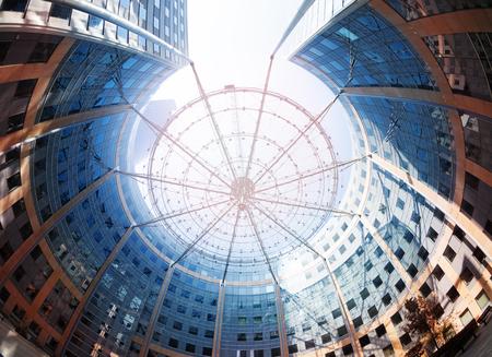 Circular building at La Defense district in Paris Imagens