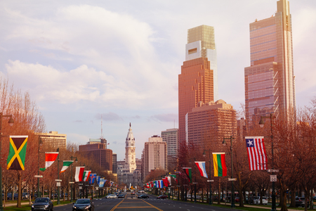 Ben Franklin Parkway and Philadelphia Center City