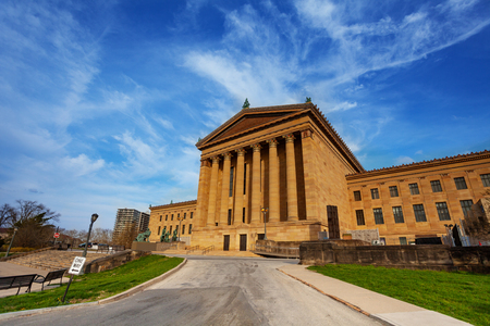 Philadelphia Museum of Art building in spring, USA Stock Photo