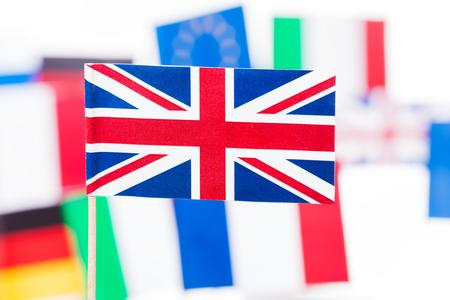 British flag against EU member states flags