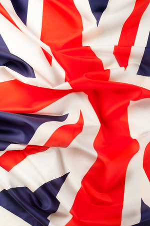 Silky ruffled flag of Great Britain image