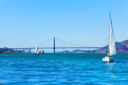 San Francisco bay with Golden Gate Bridge, USA