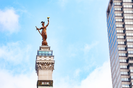 Victory statue of Soldiers and Sailors monument Stock Photo - 121269641