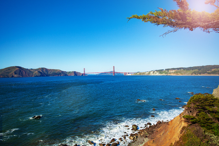 Panoramic view of San Francisco bay area, USA