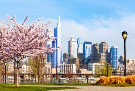 Philadelphia Center City district in spring, USA Reklamní fotografie