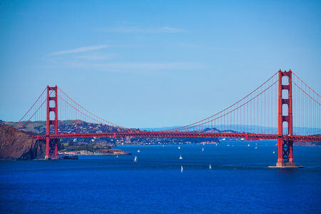 San Francisco bay with the Golden Gate bridge