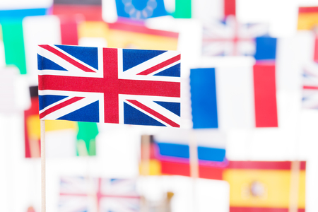 Flag of Britain against EU member-states flags