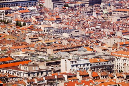 Old city Marseille at sunny day, France Banco de Imagens