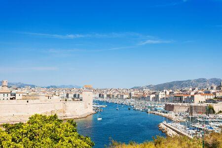 Marseille coastline with Fort Saint-Jean, France