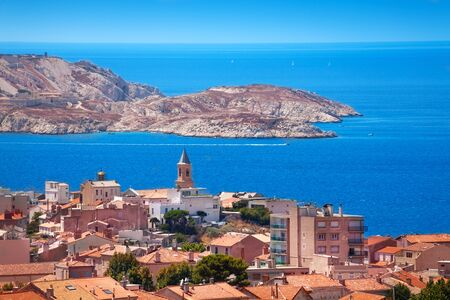 Beautiful view on Frioul Islands from Marseille