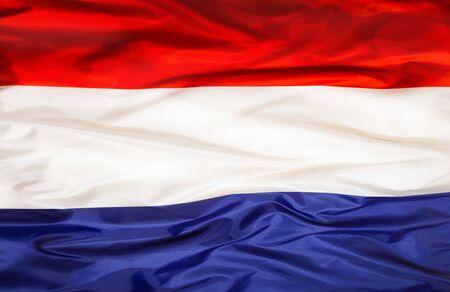 Drapeau national des Pays-Bas avec tissu ondulant Banque d'images