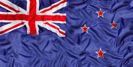 Australia national flag with waving fabric