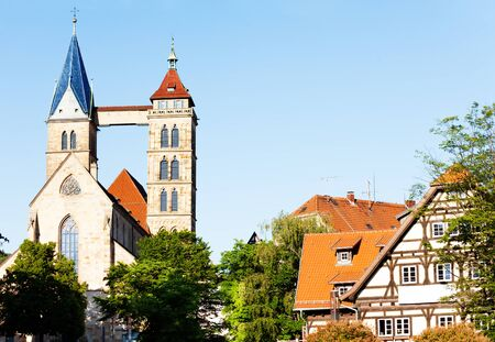 Famous St. Dionysius church, Esslingen, Germany