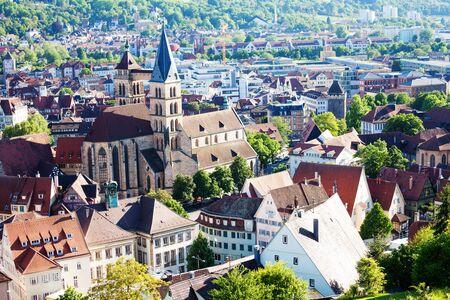 Esslingen architecture with St. Dionysius church