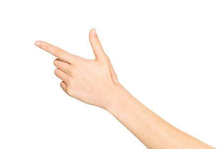 Parte posterior de la mano femenina vacía sosteniendo algo