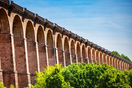 Arched abutments of Chaumont viaduct in France Archivio Fotografico - 125269650