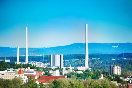 Altbach Power Station near Esslingen in Germany