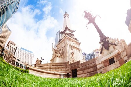 Soldiers and Sailors monument at sunny day, USA Stock Photo - 125269944