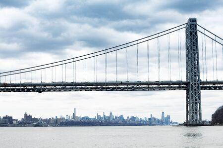 George Washington Bridge in New York and Manhattan