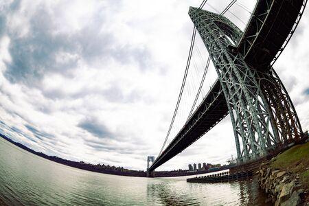 Underneath George Washington Bridge near New York