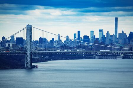 George Washington suspension Bridge and New York