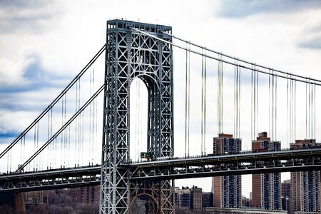 Close view of George Washington Bridge in New York