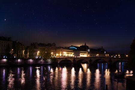 Pont royal, museum dOrsay on embarkment in Paris 写真素材