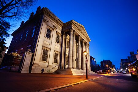 Street view of First Bank Of United States in Philadelphia, Pennsylvania USA