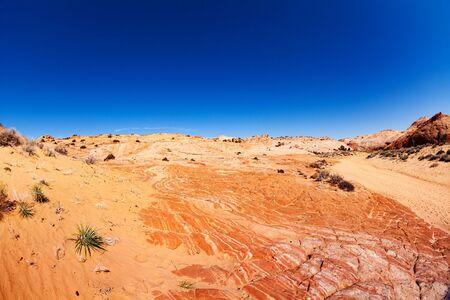 Dry river bed soil near Zebra spot Canyon in Utah, USA