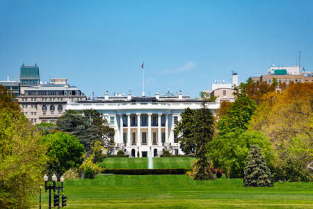White House building residence and workplace of the president of the United States view from Ellipse road