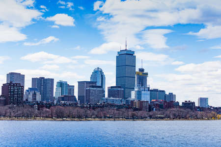 Charles river view over Boston city downtown, Massachusetts, USA