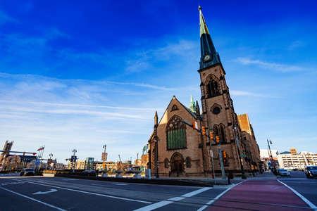 Central United Methodist Church on Woodward Avenue in Detroit, Michigan USA