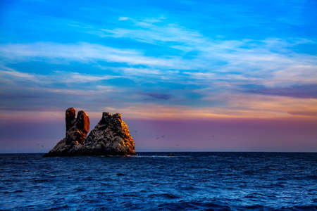 Roca Partida or Split Rock smallest of the four Revillagigedo Islands, part of the Free and Sovereign State of Colima in Mexico