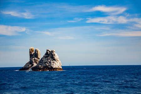 Roca Partida or Split Rock smallest of Socorro islands in Pacific Ocean