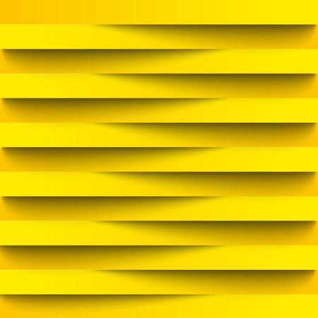 Infografiken Hintergrund, Wallpaper für Web-Design aus realistischen Papier Streifen Schattierung. Lichtlinien. Gelbe Farbe in Kombination mit schwarz. Überlappende Streifen voneinander. Kreativ