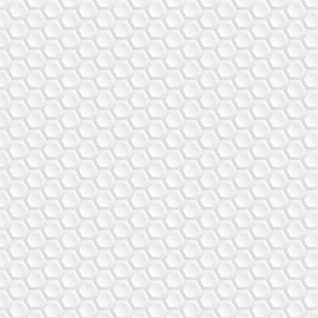 Hexagons. Background of white honeycombs.