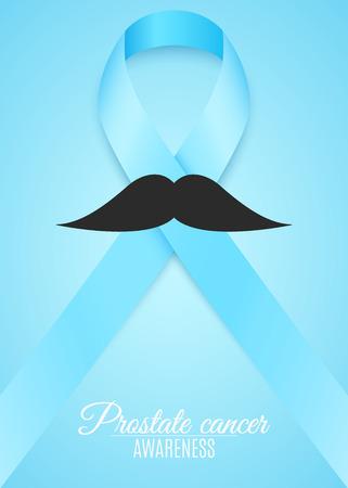concern: Prostate cancer ribbon awareness. Illustration