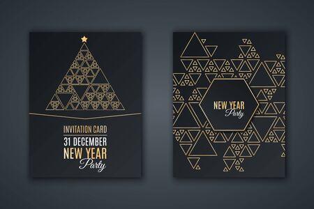Elegant invitation card for New Year's party. 免版税图像 - 90956496
