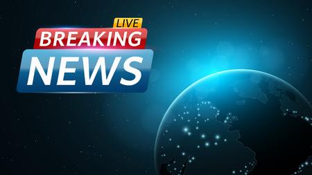 Breaking news live illustration.