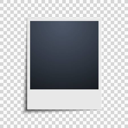 Picture on a transparent background. Photo frame. Vector illustration
