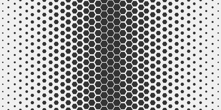 Abstract geometric pattern. Hipster fashion design print hexagonal pattern. Black honeycombs on a light background. Vector Illustration. Ilustração