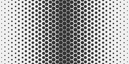 Abstract geometric pattern. Hipster fashion design print hexagonal pattern. Black honeycombs on a light background. Vector Illustration. Vettoriali